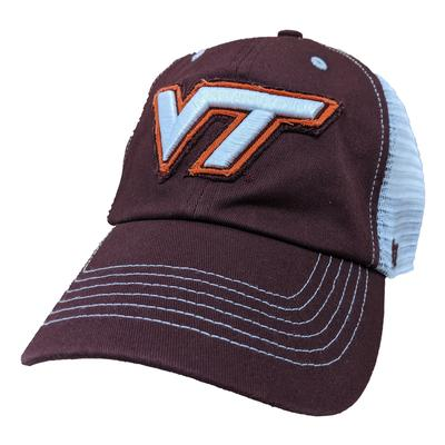 Virginia Tech '47 Brand Blue Mountain Meshback Hat