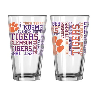 Clemson 16oz Spirit Pint Glass