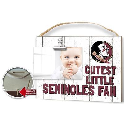 FSU Cutest Little Fan Weathered Logo Clip It