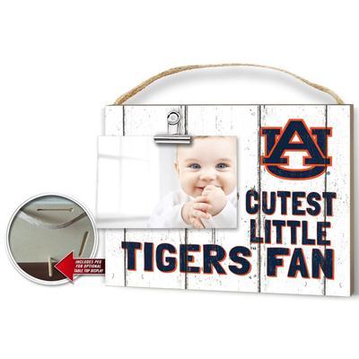 Auburn Cutest Little Fan Weathered Logo Clip It