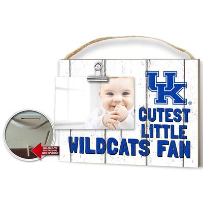 Kentucky Cutest Little Fan Weathered Logo Clip It