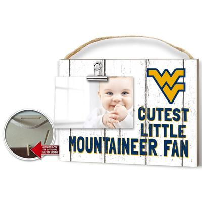 West Virginia Cutest Little Fan Weathered Logo Clip It