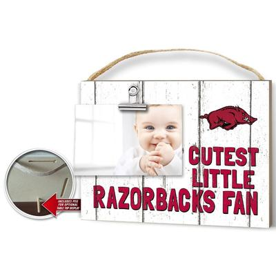 Arkansas Cutest Little Fan Weathered Logo Clip It