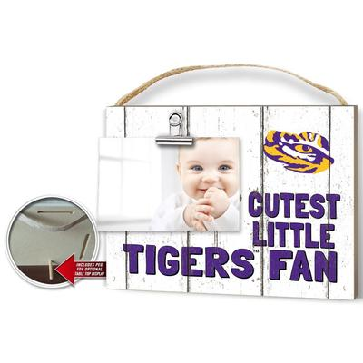 LSU Cutest Little Fan Weathered Logo Clip It