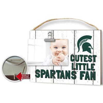 Michigan State Cutest Little Fan Weathered Logo Clip It
