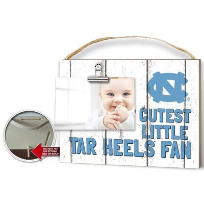 UNC Cutest Little Fan Weathered Logo Clip It