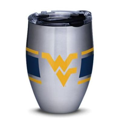 West Virginia 12 oz. Stripe Tumbler