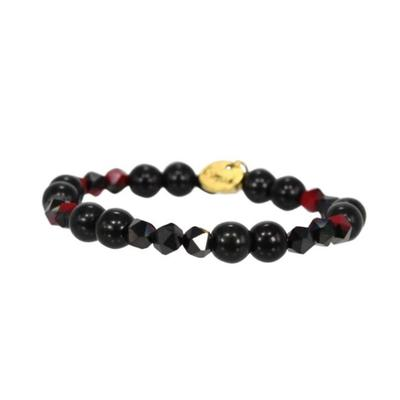 Erimish Black and Red George Stackable Bracelet