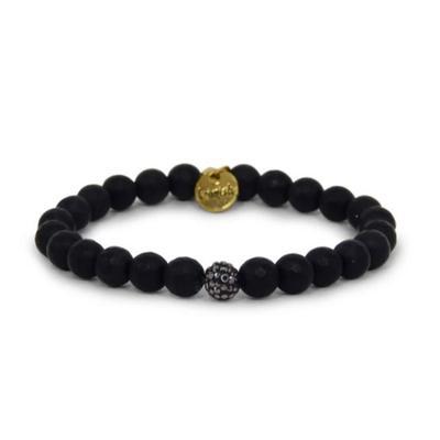 Erimish Black Coal Stackable Bracelet