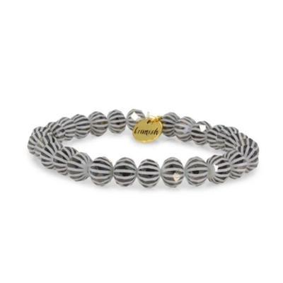 Erimish Black and White Greg Stackable Bracelet