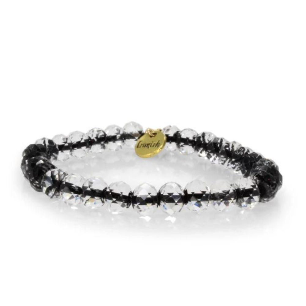 Erimish Clear And Black Ted Stackable Bracelet