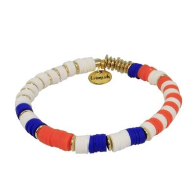 Erimish Orange, Blue, and White Kristen Stackable Bracelet
