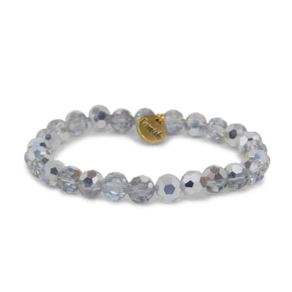 Erimish Silver Marshmellow Stackable Bracelet