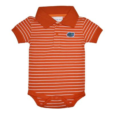 Florida Short Sleeve Striped Polo Creeper