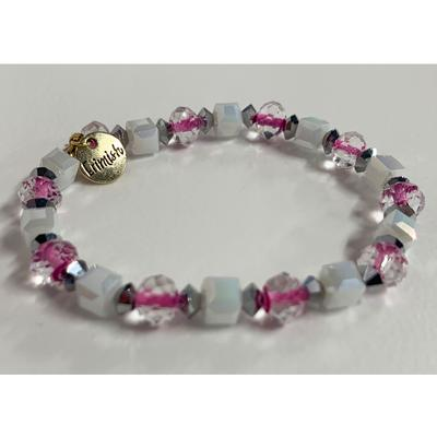 Erimish Purple and White Mark Stackable Bracelet