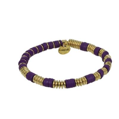 Erimish Purple and Gold Corey Stackable Bracelet