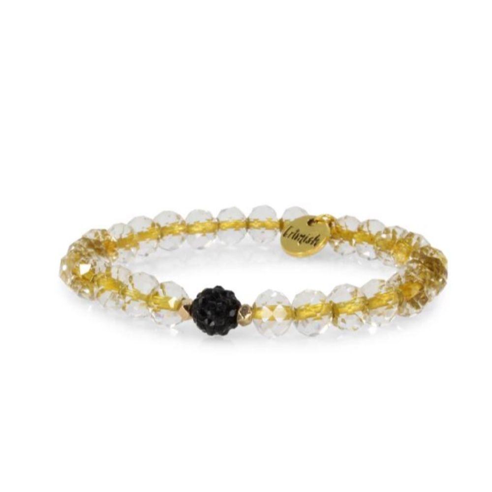 Erimish Clear And Gold Tyson Stackable Bracelet