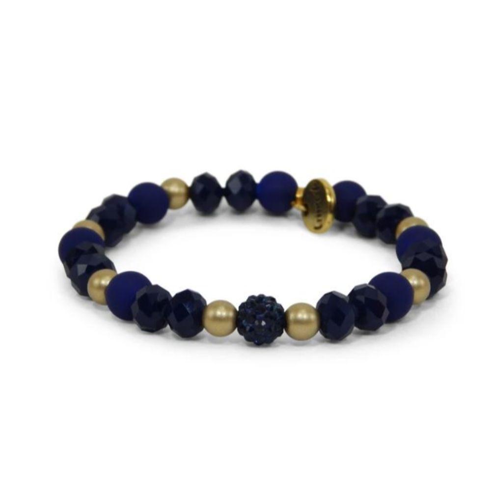 Erimish Navy And Gold Marcel Stackable Bracelet