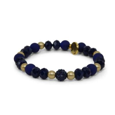Erimish Navy and Gold Marcel Stackable Bracelet