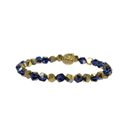 Erimish Navy and Gold Riley Stackable Bracelet