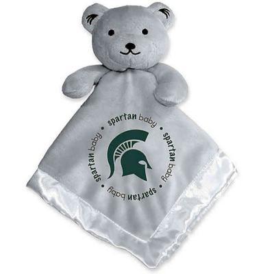 Michigan State Grey Security Bear Blanket