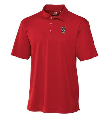 NC State Cutter And Buck DryTec Genre Polo CARD_RED