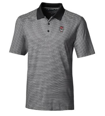 NC State Cutter And Buck Tonal Stripe Forge Polo