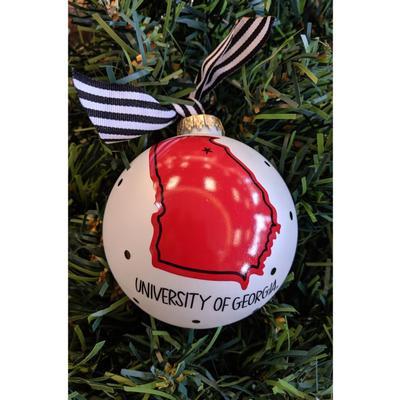 Georgia Coton Colors UGA State Ornament