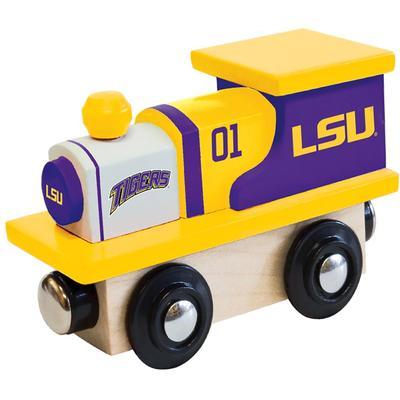 LSU Wood Toy Train Engine