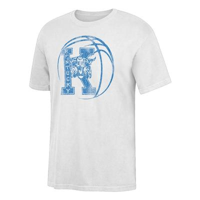 Kentucky Basketball White S/S Tee