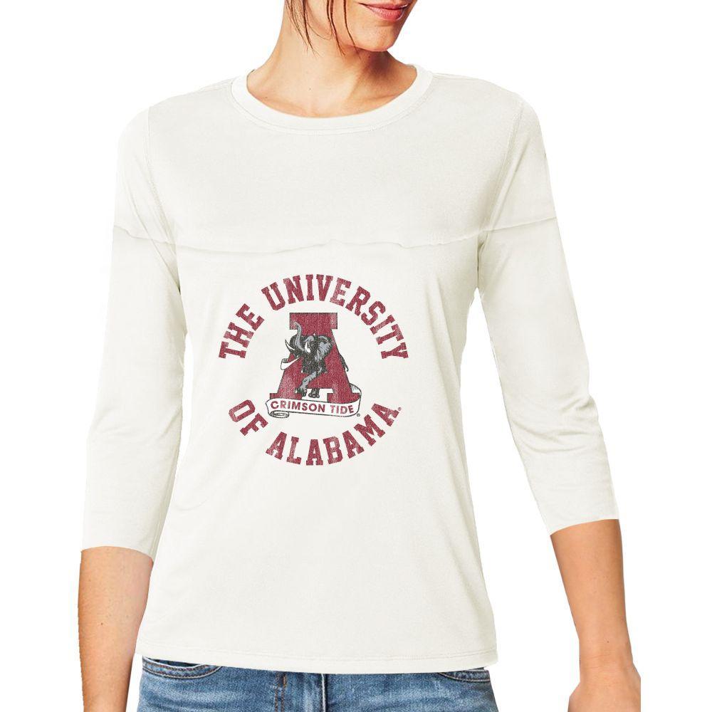 Alabama Women's 3/4 Sleeve Circle Vault Tee