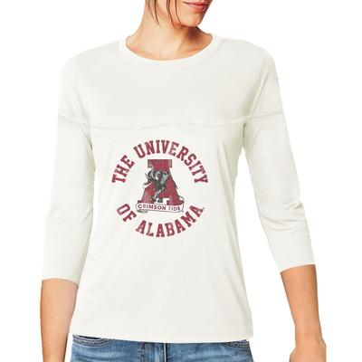 Alabama Women's 3/4 Sleeve Circle Vault Tee