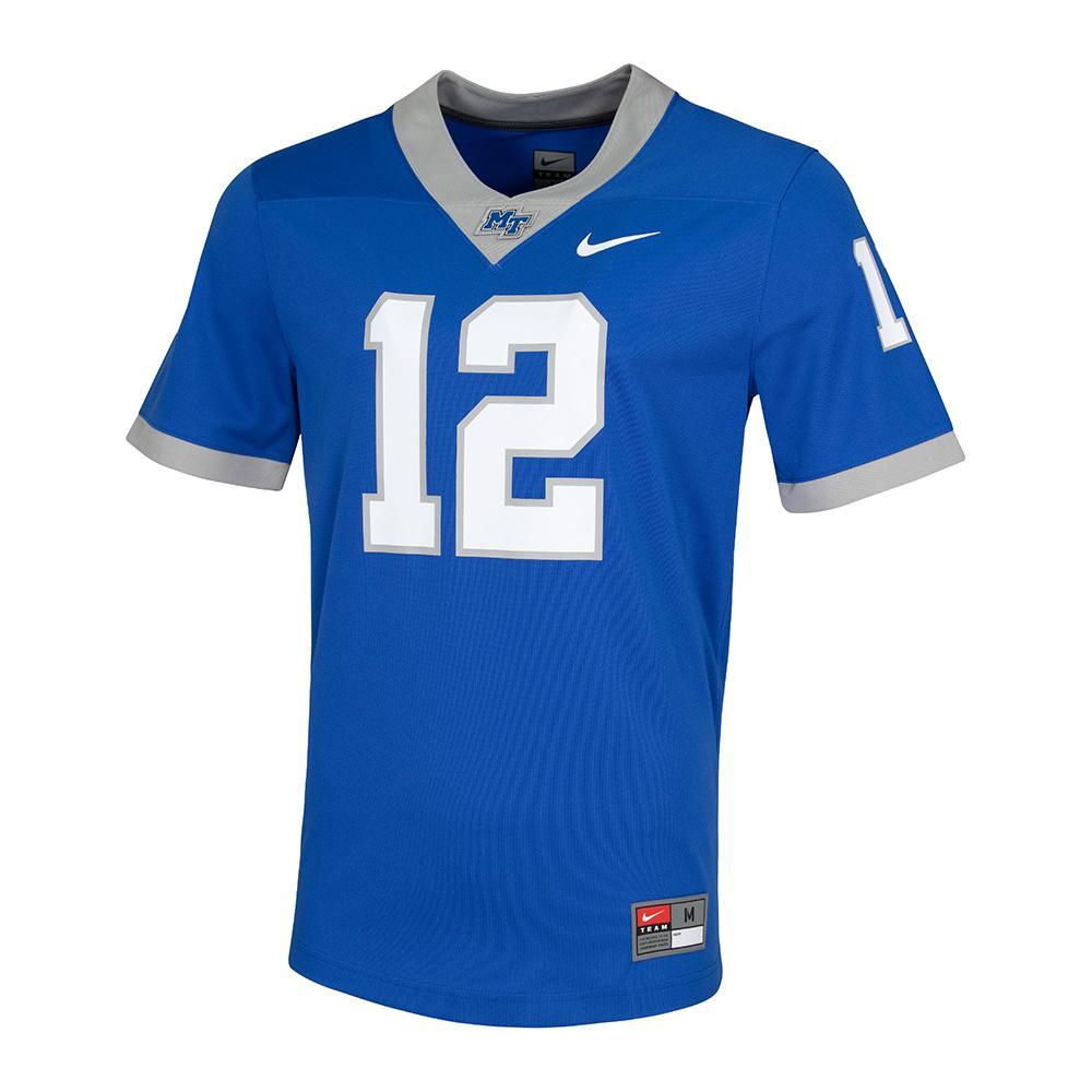 Mtsu Nike # 12 Football Jersey