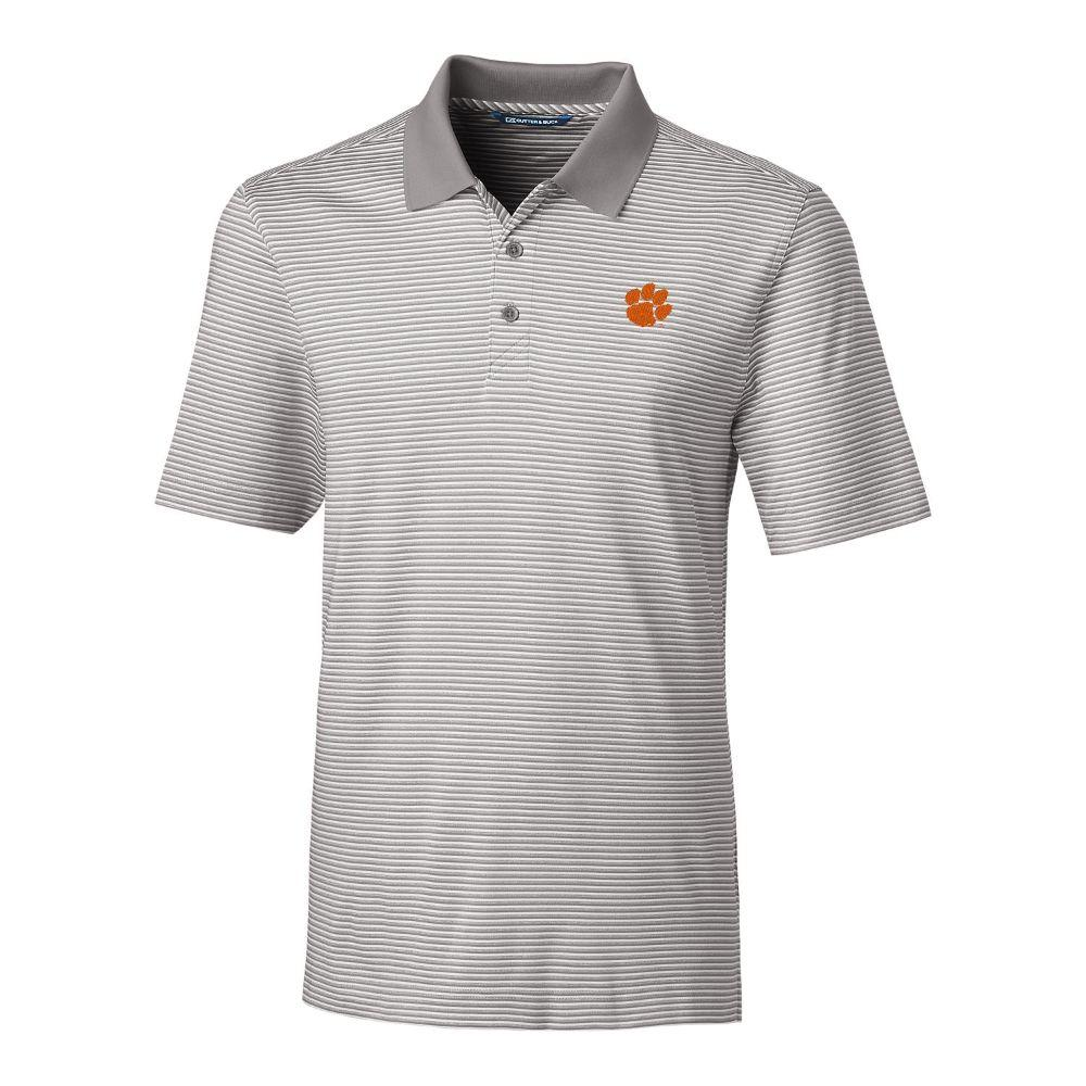 Clemson Cutter & Buck Big And Tall Forge Stripe Polo *** Custom Order ***