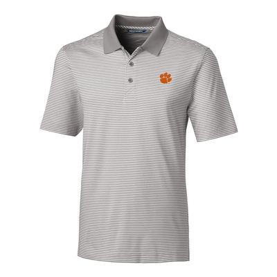 Clemson Cutter & Buck Big And Tall Forge Stripe Polo ***Custom Order***
