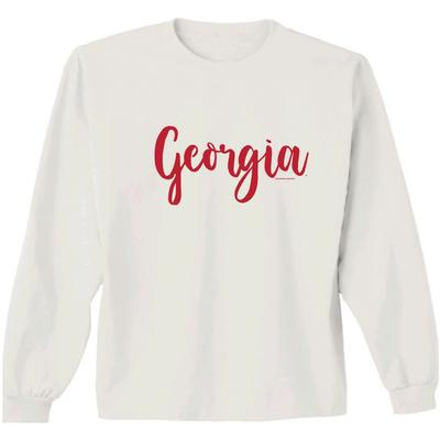 Georgia Women's Simple Script L/S Tee