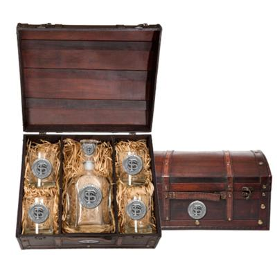 FSU Heritage Pewter Decanter Chest Set