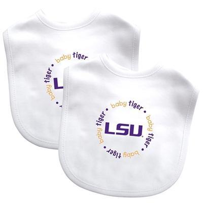 LSU Baby Tiger Bib Set 2 pack