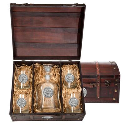 NCST Heritage Pewter Capitol Decanter Chest Set