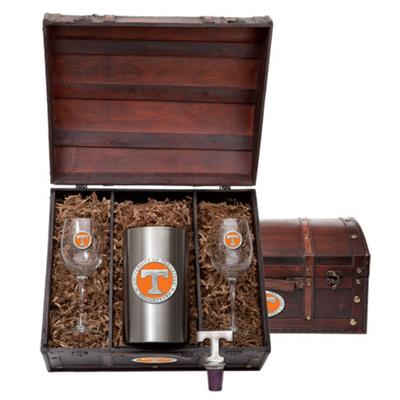 Tennessee Heritage Pewter Wine Chest Set