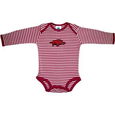 Arkansas Infant Stripe L/S Bodysuit