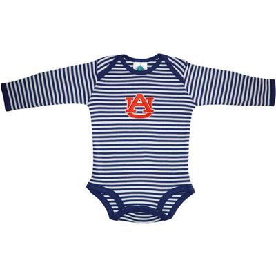 Auburn Infant Stripe L/S Bodysuit
