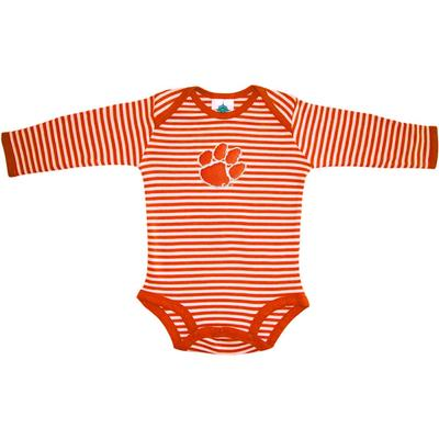 Clemson Infant Stripe L/S Bodysuit