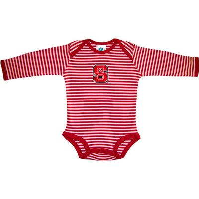 NC State Infant Stripe L/S Bodysuit