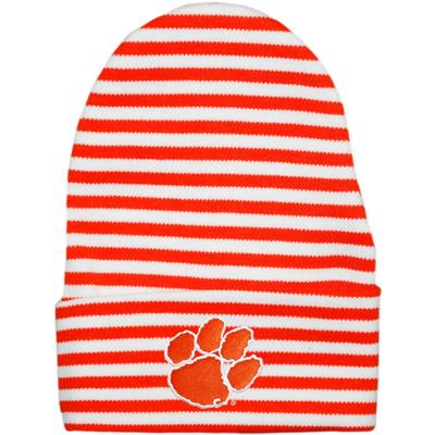 Clemson Infant Striped Knit Cap