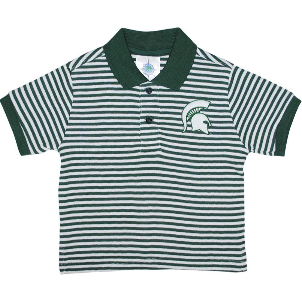 Michigan State Toddler Striped Polo