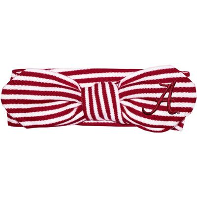 Alabama Infant Striped Knot Hair Band