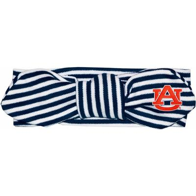 Auburn Infant Striped Knot Hair Band
