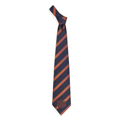 Auburn Woven Polyester Stripe Tie