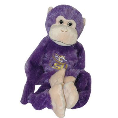 LSU Jenkins Purple Monkey Plush